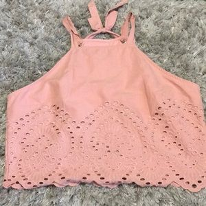 Abercrombie and Fitch eyelet tank L